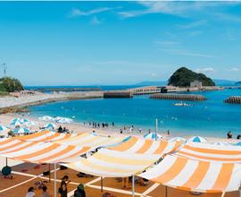 たくさんの人で賑わう夏の高島