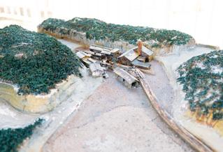 高島炭坑のジオラマ模型